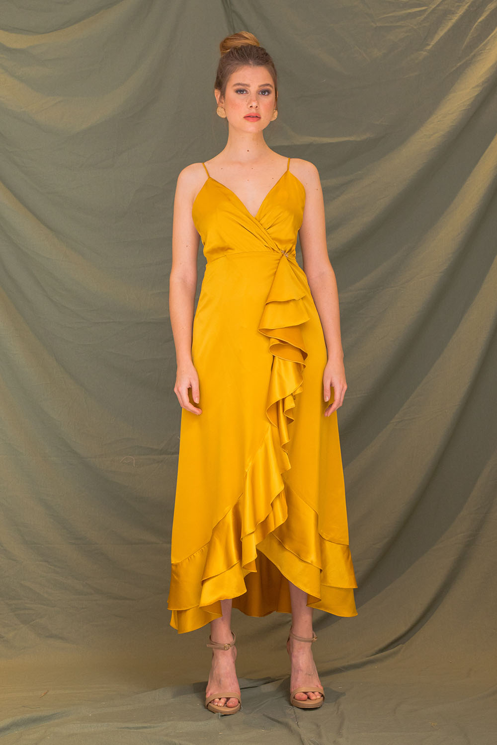 ZOO - Fashion Online | SICILY Bow Front Maxi Dress (Nude)