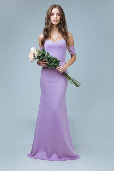 98f1cd872397 BISOUS Sweetheart Cut Off Shoulder Maxi Dress (Lavender). ₱2