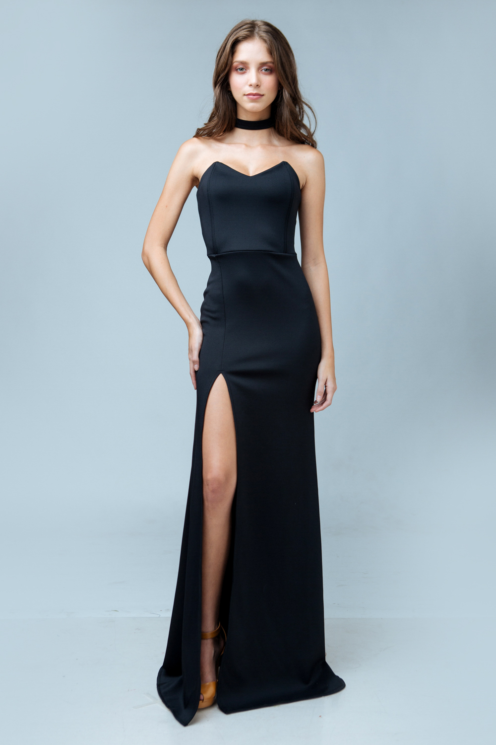 ZOO – Fashion Online | ALEGRA Pointed Tube Dress with High Slit and ...