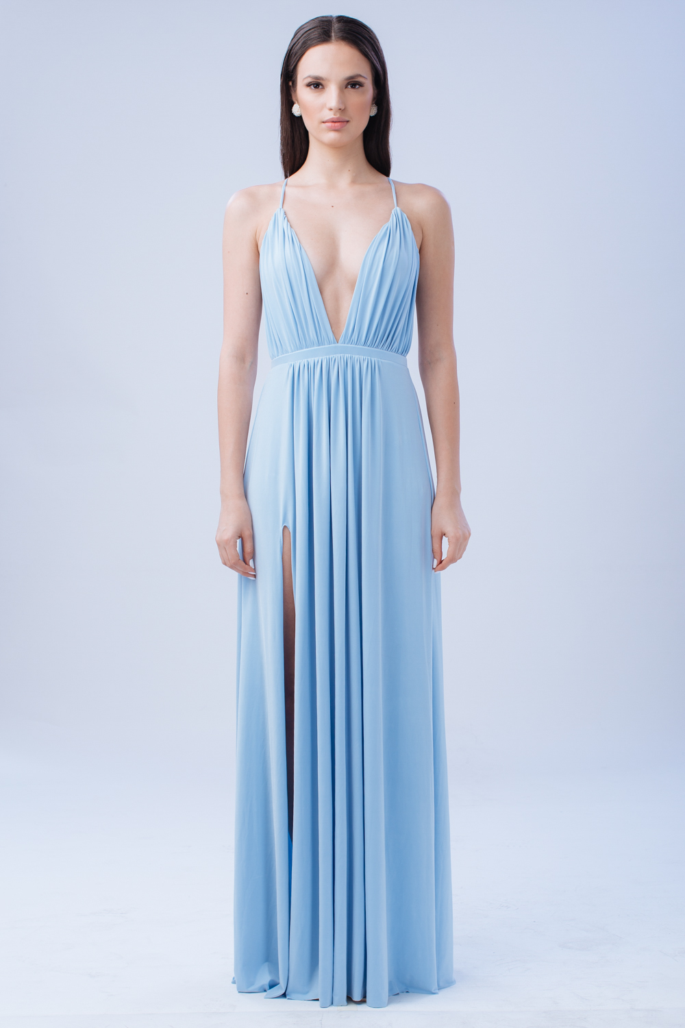 ZOO – Fashion Online | TO BE ADORED Plunge Front Crossed Back Maxi ...