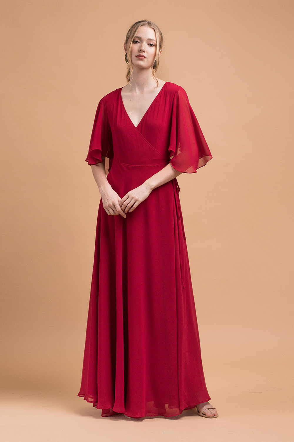 78735fadea ... Maxi Dress with Wide Sleeves (Maroon Chiffon).  first01000x1500_Zoo_HOL18_L054_002; sec-1000x1500_Zoo_HOL18_L054_012;  1000x1500_Zoo_HOL18_L054_003 ...