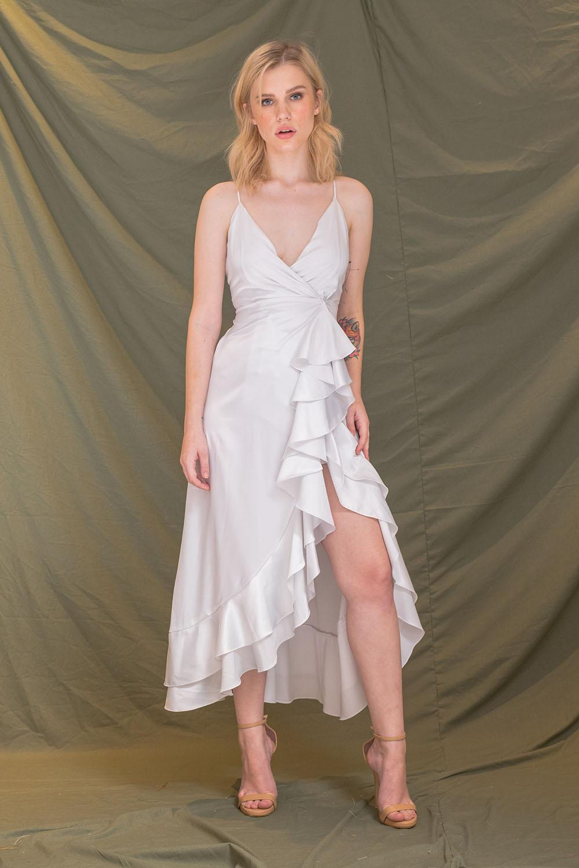 ZOO - Fashion Online | LAS PALMAS Deep V Wrap Midi Dress