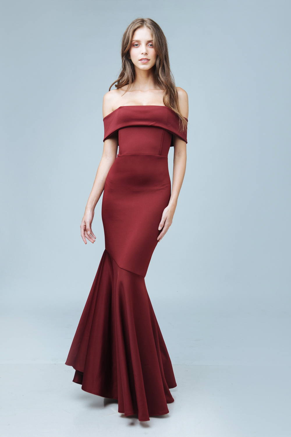 6b7b8c029043 ... Off Shoulder Maxi Dress with Flounce Hem (Maroon). FIRST-SUM2016- ...